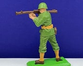 BRITAINS TOY SOLDIERS Deetail 1971 England uk metal plastic miniature vintage vtg mcm world war 2 two ww2 wwii american bazooka