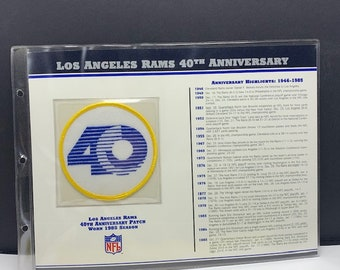 WILLABEE WARD PATCH Collection sports memorabilia badge emblem vintage 1995 nfl  football 40th anniversary Los Angeles Rams Eric Dickerson 8363b09c1