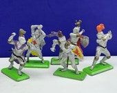BRITAINS TOY SOLDIERS Deetail 1971 England uk metal plastic miniature vintage vtg mcm crusades crusader medieval knight mixed lot no swords