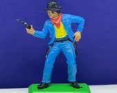 BRITAINS TOY SOLDIERS Deetail 1971 England uk metal plastic miniature vintage vtg mcm civil war cowboy western pistol outlaw gunslinger
