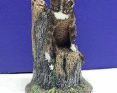 CHARLES EARNHARDT BRONZE wildlife collection figurine statue miniature sculpture vintage 1979 vtg signed aus ben signature cat kitten toby