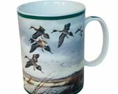 Danbury Mint Ducks America mug cup Maass Wild Wing Mallard Western Marsh pintail