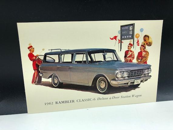 Classic Car Postcard Vintage Ephemera Post Card Paper Etsy