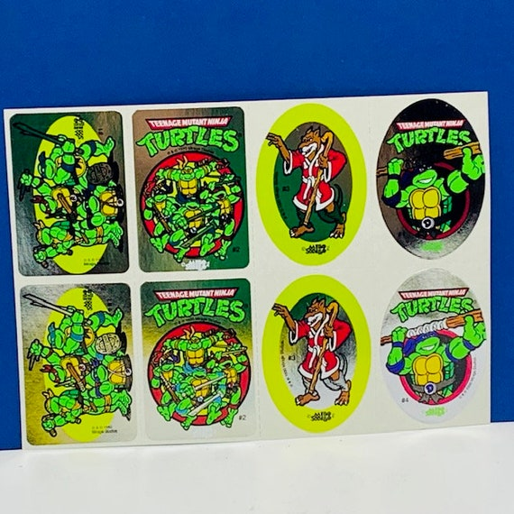 1 sin usar tarjeta álbum + todas las tarjetas Teenage Mutant Hero Turtles comic 1990