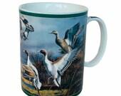 Danbury Mint Ducks America mug cup Maass Wild Wings Mallard Rapid Ascent pintail