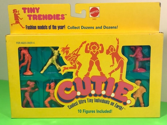 1986 Mattel inc cutie bébés poupées c.u.t.i.e Bitsy fille version de muscle hommes