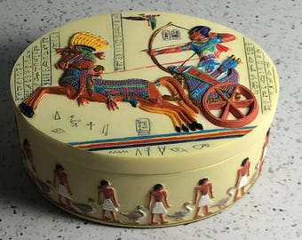 Egyptian jewelry box Etsy