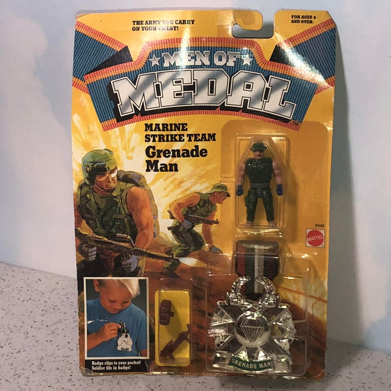 Of Medal Vintage MilitaryEtsy Action Figure Toy 1988 Mattel Men vnmN80Ow
