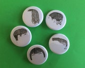 Haircut badge set designed by Amy Pennington