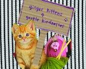 Ginger kitten greetings cards set of 3