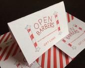 Open Barbers Haircut Voucher