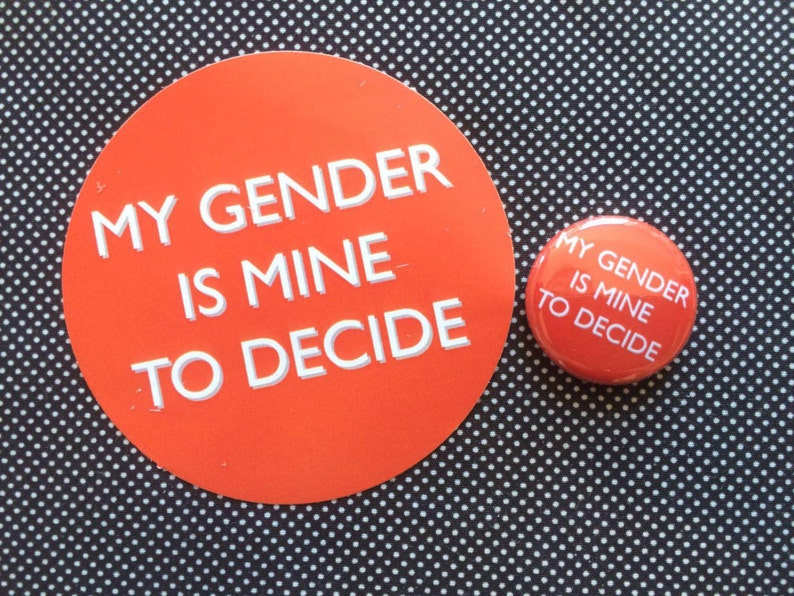 My Gender Is Mine To Decide badge and sticker set image 0