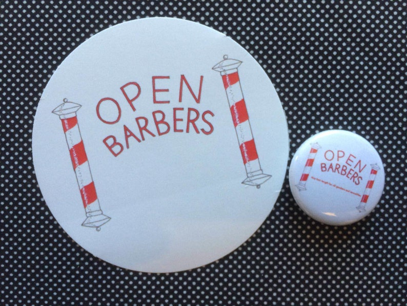 Open Barbers logo badge and sticker set image 0