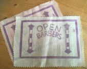 Open Barbers logo sew on patch made by Greygory Vass