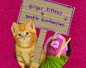 Ginger kitten postcards set of 3