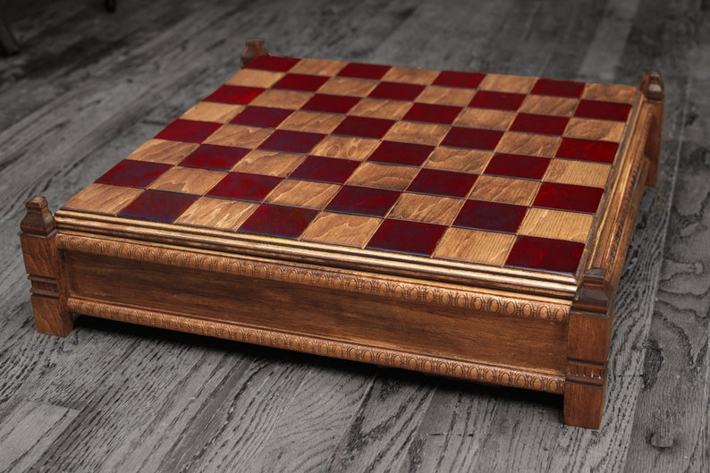 Isle of Lewis Chess Board - with or without Case and Chessmen (MIDSUMMER  SALE 15% OFF)