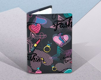 Pink Wild Tropical Hibiscus Flowers Multi-purpose Travel Passport Set With Storage Bag Leather Passport Holder Passport Holder With Passport Holder Travel Wallet