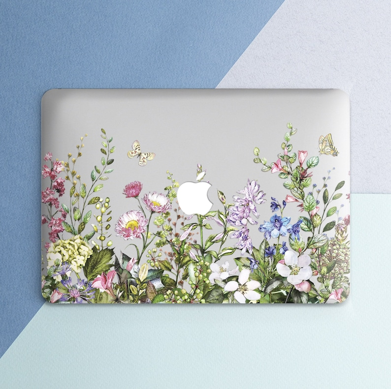 info for e6d94 13867 Wild Flowers Macbook case Floral Cute Women Girl Macbook Pro 13 inch Pro 15  2018 Flower Leaf Summer Macbook Air 13 Macbook 12 inch Hard case