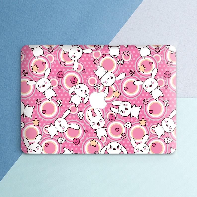 brand new 8bf23 e37e8 Anime Macbook case Cute Bunnies Kawaii Pink Macbook Pro 13 inch Pro 15 inch  2018 Funny Japanese Girly Macbook Air 13 Macbook 12 inch Retina