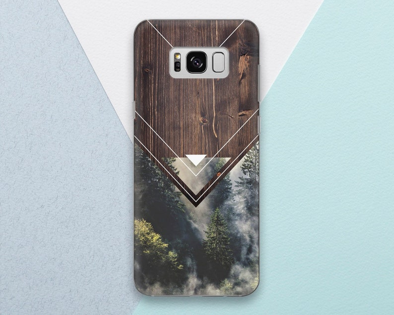 official photos 040ff e5a92 Wood Phone case for Samsung Galaxy s9 s8 s7 s9 Plus s8 Plus Note 9 Note 8  Forest Trees Nature Wood Geometric Men Samsung s9 s8 s7 Edge s6