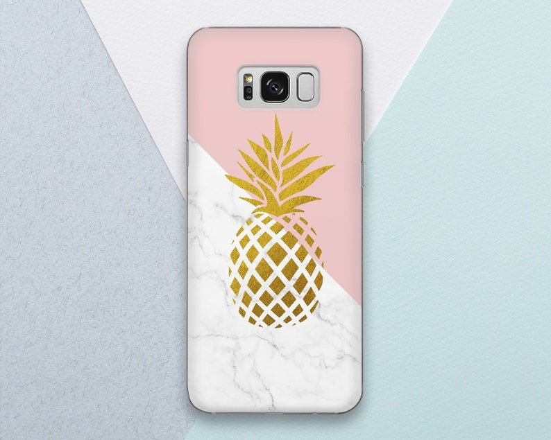 best authentic e185d 11c62 Pineapple Phone case for Samsung Galaxy s9 s8 s7 s9 Plus s8 Plus Note 9  Note 8 White Marble Gold Pink Cute Girl Girly Samsung s9 s8 s7 Edge