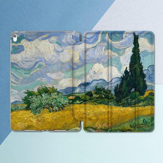 Van Gogh iPad case Art Nature Painting iPad Pro 10 5 Pro 12 9 Van Gogh  Vintage Tree Floral iPad 9 7 2018 6th 5th gen iPad Mini 4 Air 2 Smart