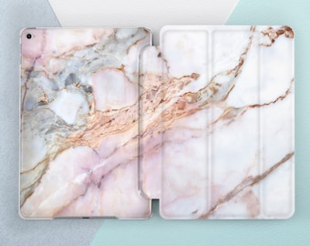 Rose Gold Marble iPad case 6th 5th gen Pink Marble iPad Pro 10.5 Pro 12.9 Cute Girl Marble iPad 9.7 2018 2017 iPad Mini 4 Air 2 Smart Cover
