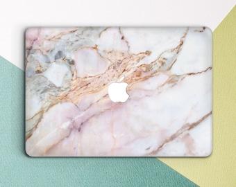 Rose Gold Marble Macbook case Marble Pink Girl Cute Macbook Pro 13 inch Pro 15 2018 Girly Cute Women Macbook Air 13 Macbook 12 inch Retina