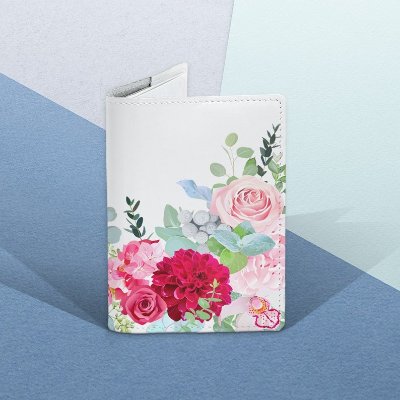 5e3c1ae336ce Succulent Passport cover Floral Passport cover Leather Passport cover Women  Passport cover Succulent Passport holder Flower Passport gift