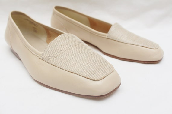 d5f86b5acc4 Rare 90 s Vintage ENZO ANGIOLINI Cream Leather