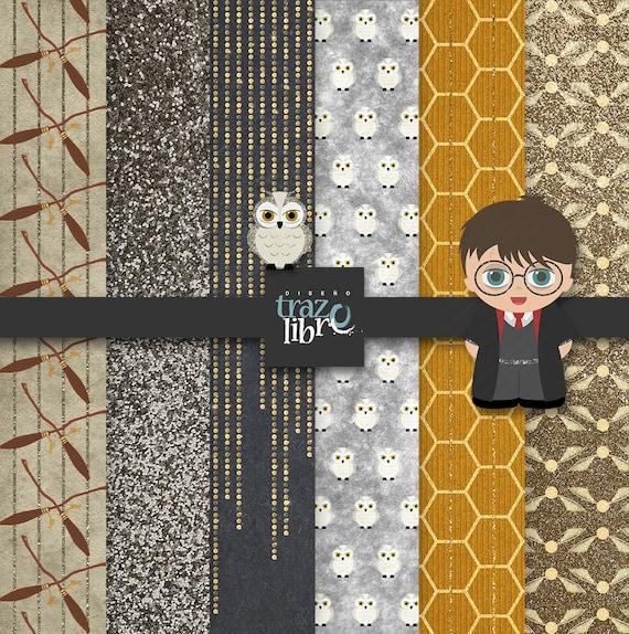 Harry Potter Digital Paper Party Clip Art Digital Paper