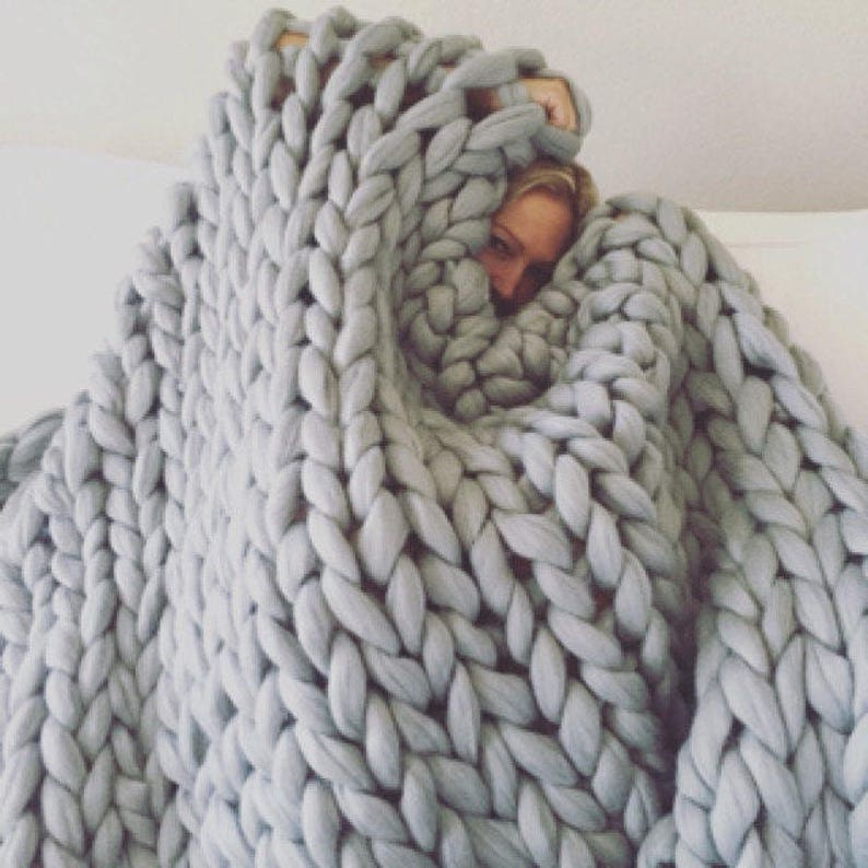 Chunky blanket Chunky knit throw Chunky knit blanket Giant image 0