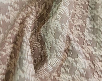 Taupe and cream patterned heavy weight fabric