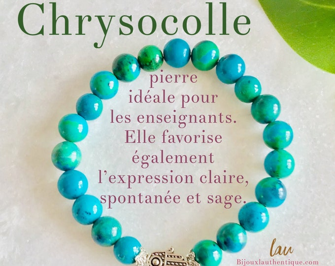 Hide French Chrysocolla azurite pierrre, bracelet benefits azurite chrysocolla, jewels benefits chrysocolle azurite, Mala benefits azurites