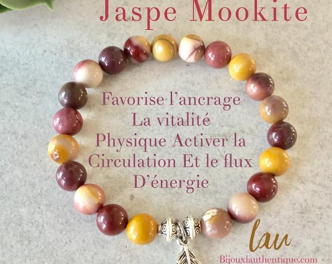 Mookite jasper bracelet for women, Mookite jasper jewelry, Mookite jasper stone benefits, Mookite jasper necklace jasper necklace