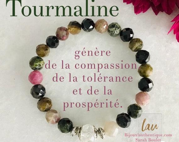 Bracelet tourmaline French hide tourmaline woman bracelet benefits eliminated blocking, christmas gifts stone jewelry tourmaline stone