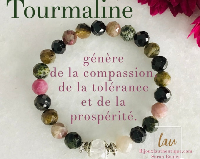 Bracelet tourmaline French hide tourmaline woman bracelet benefits eliminated blocking, christmas gifts stone jewelry tourmaline stone