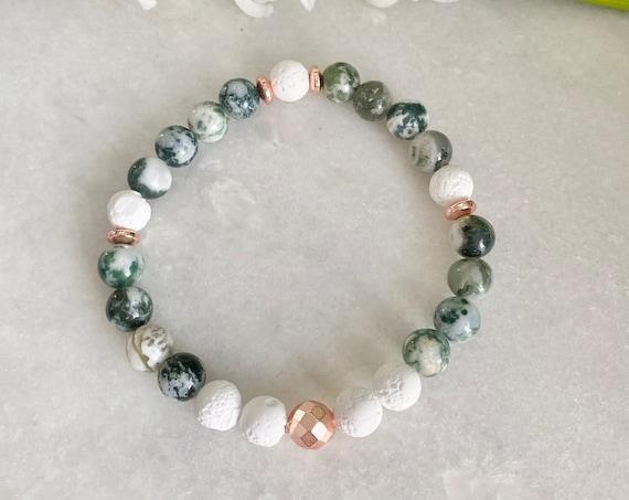 Bracelet agate tree, stone agate tree