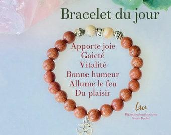 Bracelet gold stone orange