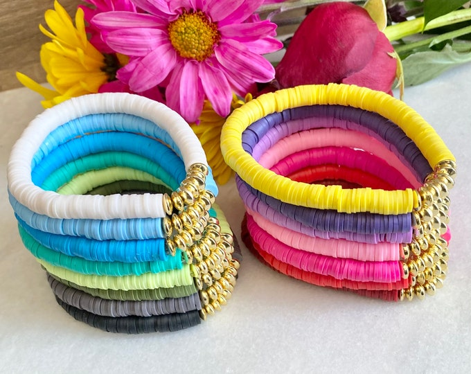 Heishi bracelet choice of 15 colors