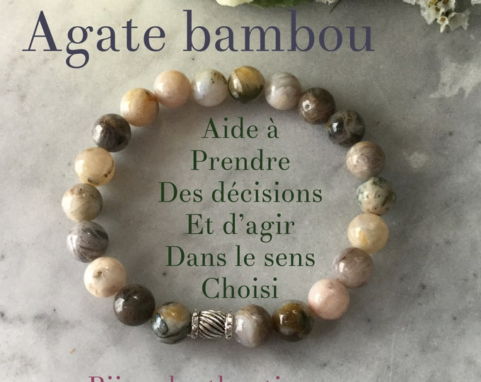 Bracelets agate bamboo chrysanthenum, earth color ground bracelet, gifts woman collection autumn 2018 caramel vanilla, matte agate square