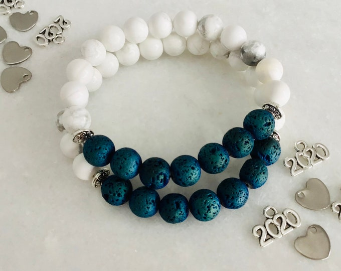133 Bracelet howlite ,Bracelet Yoga, Bracelet meditation, bracelet pierre fine, Marbre, Bracelet Blanc, charkra
