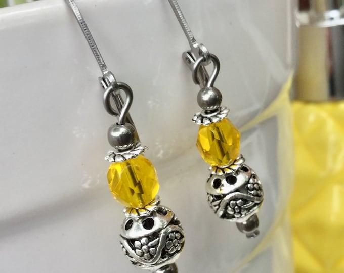 cristal blue, cristal Green, cristal orange, cristal yellow, cristal AB, drop earring