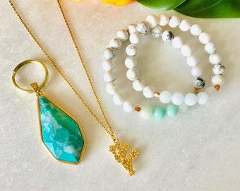 women's wristbands pastel and rose gold colors, howlite stones, rose quartz bracelet lilac aquamarine amazonite calcite yellow honey