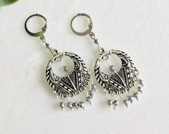 Bohemian  earring, beautiful earring fringe 20 color choice, woman christmas earring