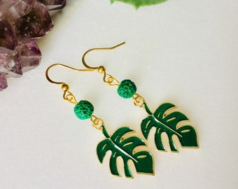Earrings tropicales gold