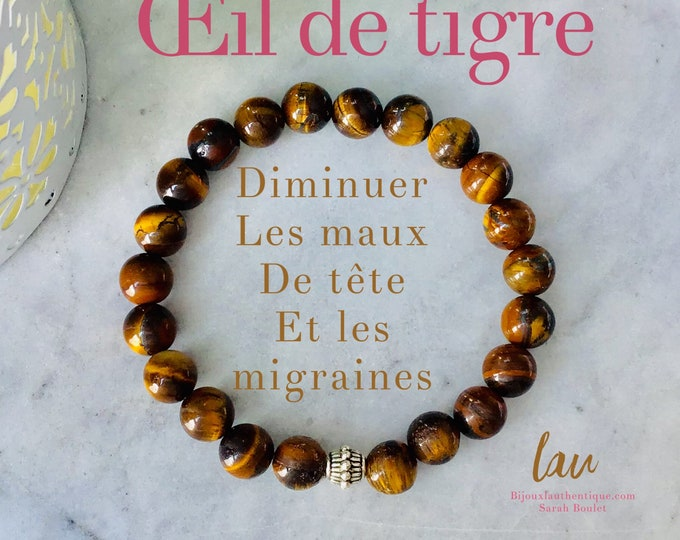Oeil de tigre stone yellow marron