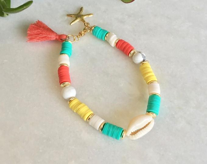 Heishi boho polymerSt-valentine bracelet