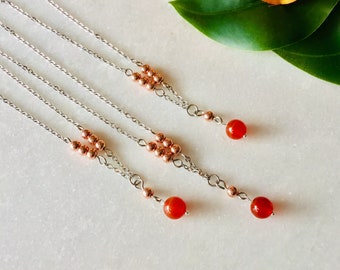 Agate orange chain hématite , Mala, beaded bracelet, hand made, new moon, plexus, bijouxlauthentique benefits stone