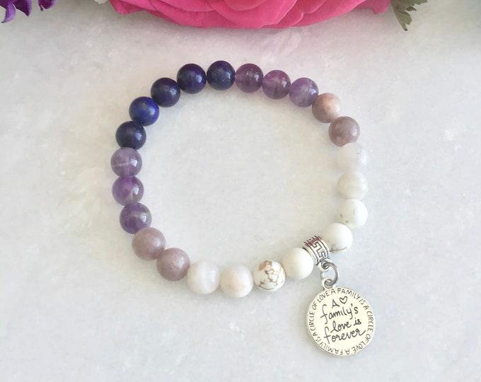 Bracelet i Love family's I love forever chain acier inoxydable double